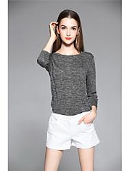 Dámské Jednoduchý Mikro elastické Džíny Kraťasy Kalhoty Štíhlý Mid Rise Jednobarevné