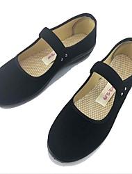 Women's Flats Comfort Fabric Summer Casual Buckle Flat Heel Black Flat