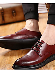 Men's Oxfords Comfort Tulle Spring Casual Comfort Burgundy Black Flat