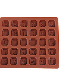 Silicone 26 letters of the alphabet Cake Decorating Bakeware Mold Chocolate Mould Cooking Tool Food DIY Making