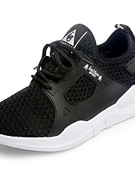 Women's Athletic Shoes Comfort PU Spring Summer Casual Comfort Low Heel Ruby Black White Under 1in