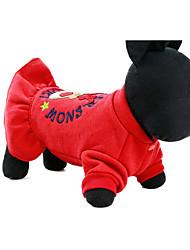 Cachorro Vestidos Roupas para Cães Casual Princesa Vermelho