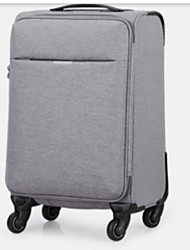 Unisex Luggage Polyester All Seasons Casual Outdoor Rectangle Zipper Dark Grey Black Grey Light Gray