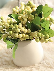 Christmas Berries Simulation Brown Rice Shoots Beans Fake Flower Export Home Decoration
