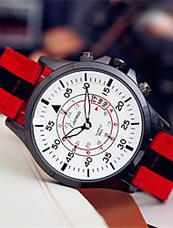 Men's Fashion Watch Quartz Leather Band Red