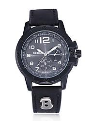 jewelora Homens Relógio Esportivo Relógio de Moda Relógio de Pulso Chinês Quartzo Resistente ao Choque Punk Mostrador Grande Couro Banda