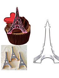 1Pcs The Eiffel Tower Stainless Steel Cookie Mould Cookies Mold Cake Mold Fruit Cutting Tools Turn Sugar