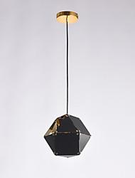 Single head post moderne europe style métal avec électrode lampe chandelier en acier inoxydable pour la chambre / entrée / garage maison