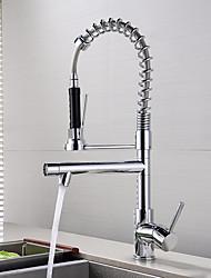 Настольная установка Керамический клапан Хром , кухонный смеситель