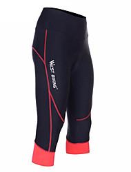 West biking Pantalones Acolchados de Ciclismo Mujer BicicletaPantalones Cortos Acolchados 3/4 Medias/Corsario Shorts/Malla corta Prendas