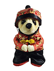 Собака Костюмы Одежда для собак Новый год Вышивка