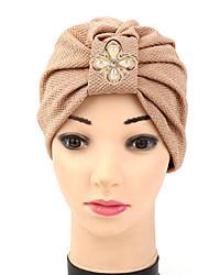 Femme Chapeau Fleur Film Plastique Tissu Capeline,Mosaïque Printemps/Automne Eté Couleur mixte