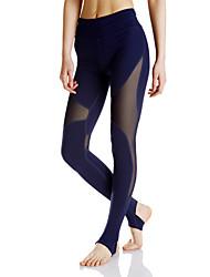 Mujer Pantalones de Running Gimnasio, Correr & Yoga Dispersor de humedad Medias/Mallas Largas para Yoga Jogging Ejercicio y Fitness