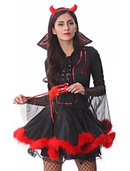 Cosplay Costumes Party Costume Fairytale Angel/Devil Festival/Holiday Halloween Costumes Patchwork Dress Headpiece More Accessories