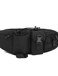Men Waist Bag Nylon All Seasons Casual Outdoor Round Zipper Brown Black