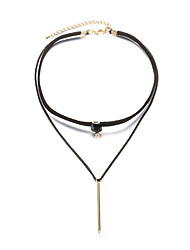 Women's Choker Necklaces Crystal Geometric Crystal Copper AlloyAcrylic Ribbons Love Heart Gothic Crossover Punk Adjustable Balance of the