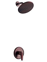 Douche seulement Soupape céramique 2 trous for  Bronze huilé , Robinet de douche