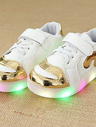 Kids Boys Girl's Sneakers Light Up Shoes Leather Leatherette Spring Summer Fall Casual Outdoor Walking Light Up Shoes Magic Tape LED Lace-upLow