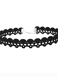 Women's Choker Necklaces Skull / Skeleton leather Unique Design Jewelry For Event/Party Dailywear Outdoor clothing
