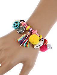 Femme Chaînes & Bracelets Charmes pour Bracelets Bracelets Vintage Bohême Turc Résine Alliage Forme Géométrique Bijoux PourRendez-vous