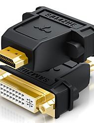 HDMI 2.0 Adaptateur, HDMI 2.0 to DVI Adaptateur Mâle - Femelle Cuivre plaqué or