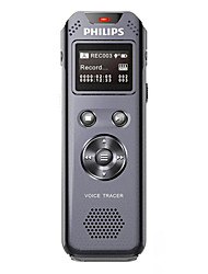 PHILIPS VTR5800 Digital Voice Recorder Stereo Recording Noise Reduction Key Lock FM Receiver Telescopic USB Straight Recording 8GB