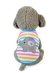 Собака Жилет Одежда для собак На каждый день Носки детские Розовый Светло-синий Радужный полоса Цвет отправляется в случайном порядке