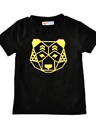 Boys' Print Tee Cotton Summer Short Sleeve Regular Bear Head Kids T Shirt Boys Girls Clothes