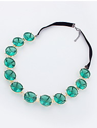 Choker  Necklaces Euramerican OL Green Gemstone Strands Necklace Jewelry For Women Party Daily Business Movie Gift  Jewelry