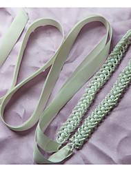 Organza Wedding Party/ Evening Dailywear Sash-Beading Imitation Pearl Women's 78 ¾in(200cm) Beading Imitation Pearl
