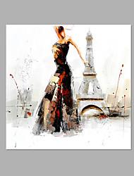 Pintados à mão Realismo Abstracto 1 Painel Tela Pintura a Óleo For Decoração para casa