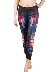 Mulheres Leggings de Corrida Camiseta Segunda Pele Fitness, Corrida e Yoga Secagem Rápida Respirável Calças Leggings Cropped para Ioga