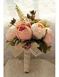 Свадебные цветы Букеты Свадебное белье Тафта Шифон Кружево Около 20 см