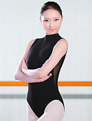 Ballet Leotardos Mujer Entrenamiento Licra 1 Pieza Sin mangas Cintura Alta