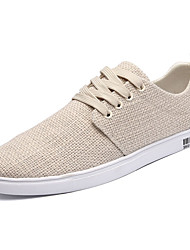 Men's Sneakers Comfort Wool Spring Fall Athletic Comfort Lace-up Flat Heel Beige Black White Flat