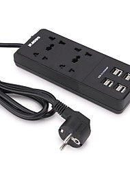 USB Power Strip Socket Universal 4 AC Outlets 8 USB Ports Extension Lead 1.5m Cable EU Plug