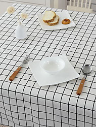 Cotton And Linen Rectangular Lattice Garden Small Fresh Coffee Table Cloth