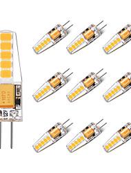 2W Luci LED Bi-pin T 10 SMD 2835 250 lm Bianco caldo Bianco V 10 pezzi