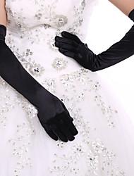 Ópera Com Dedos Luva Elastano Luvas de Noiva Luvas de Festa Todas as Estações Pedrarias