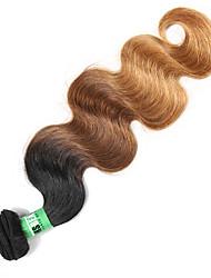 1 Bundles/Lot  Indian Ombre Hair Body Wave Remy Human Hair Weave Bundles 3T Color 1B/4/27 100 Grams