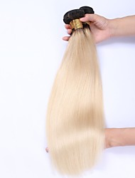 Beata Hair 10-24inch Straight Ombre Blonde Peruvian 100% Remy Human Hair Weave Weft Extensions Color#1b/613 Ombre Hair Bundle 100g Per Bundle