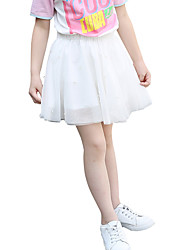 Girls' Solid Skirt-Pearl Chiffon Summer