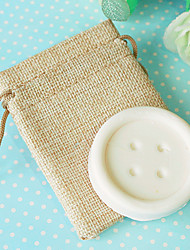 Mini Soap Favor in Burlap Bag Beter Gifts® Handmade Baby Baptism Party Souvenirs