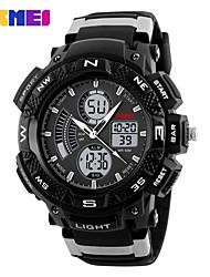 SKMEI Муж. Спортивные часы электронные часы Цифровой PU Группа Черный