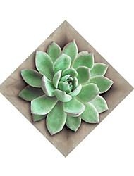 Floral/Botânico Adesivos de Parede Autocolantes de Aviões para Parede Autocolantes de Parede Decorativos,Papel MaterialDecoração para