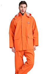 Motorcycle Raincoat Knit Orange Double-Layer Raincoat Rain Pants