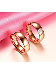 Для пары Кольца для пар Цирконий Простой стиль Elegant Цирконий Титановая сталь Круглой формы Бижутерия НазначениеСвадьба Вечерние
