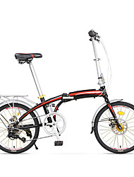 Складные велосипеды Велоспорт 7 Скорость 20 дюймы Shimano Двойной дисковый тормоз Без амортизации Рама из алюминиевого сплава Складной