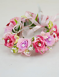 YUXIYING Little Roses Wedding Flower Girl  Bridal Head Wreath  Flower Short Style  More Colors