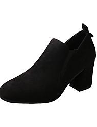 Women's Heels Formal Shoes Fall PU Walking Shoes Casual Dress Office & Career Chunky Heel Black Khaki 2in-2 3/4in